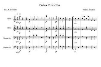 Polka Pizzicato – prosta wersja